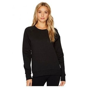 Women's Reebok Te Quilted Crew Sweater, Black